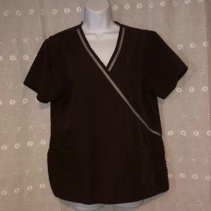 SB Scrubs scrubs top M brown
